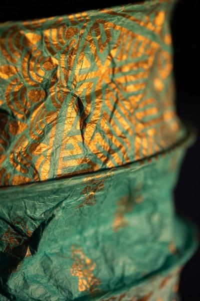 Papierlampe 'Wasserwelt', blautöne, Ø 25 cm, H 28 cm