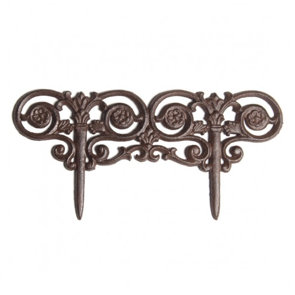 "Beetabgrenzer ""Art Nouveau"", antik-braun, B 44 cm"
