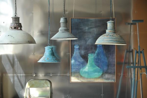 Leuchte 'Blue', aus Metall, blau, Ø 47 cm, H 42 cm