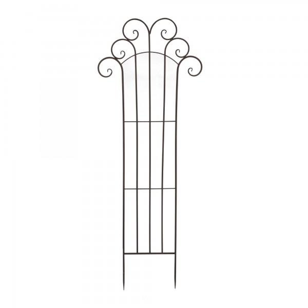 Rankhilfe aus Eisen, grau, T 57 cm, H 149 cm
