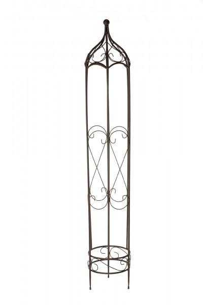 Rankturm 'Roquebruin' L, vintage braun, Ø 31 cm, H 173 cm