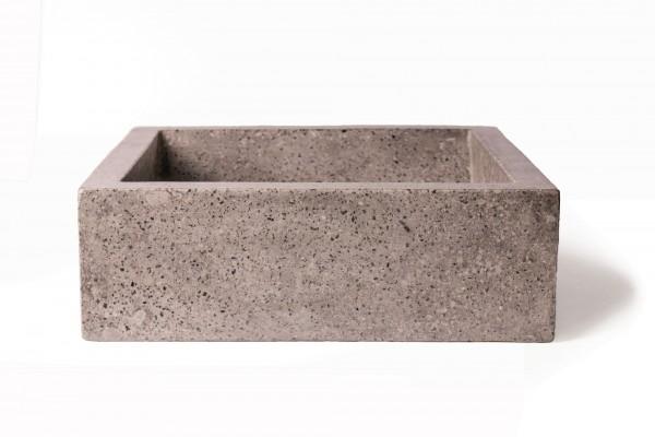 Waschbecken 'Terrazzo', grau, T 40 cm, B 45 cm, H 13 cm