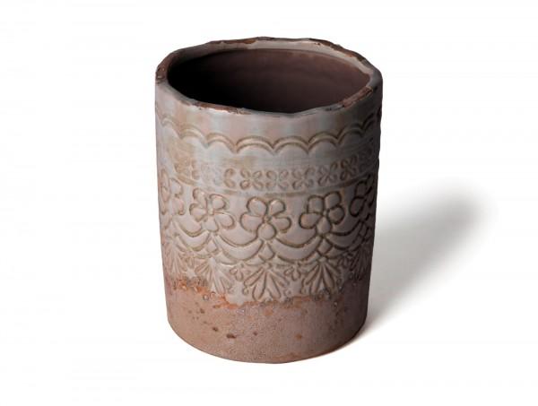 "Keramikbehälter ""Houplin"", Ø 18 cm, H 22 cm"