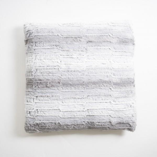"Kissen ""Spalte"", weiß/grau, L 50 cm, B 50 cm"