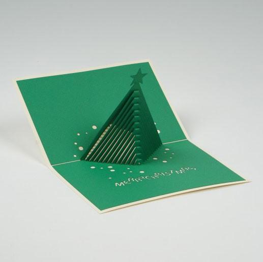 """Handgefertigte Popup Grußkarte """"Weihnachtsgruß"""", inklusive Umschlag, L 15 cm, B 10 cm"""