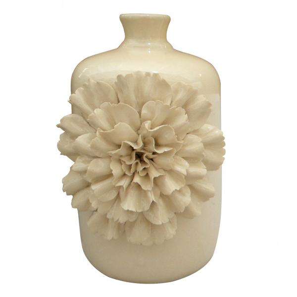 """Vase """"Dianthus lagoena"""", creme, H 30 cm, Ø 22 cm"""