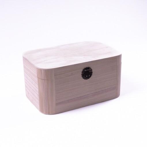 "Holztruhe ""Baihu antique"" mit Deckel, natur, L 19,5 cm, B 30 cm, H 15 cm"