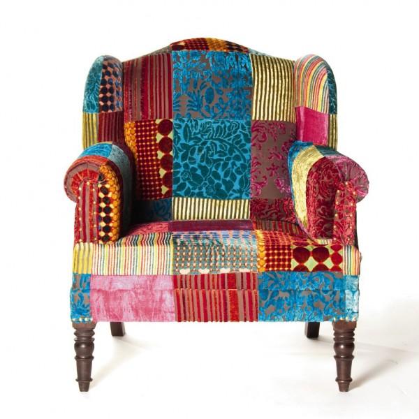 """Sessel """"Patch"""", multicolor, L 73 cm, B 88 cm, H 94 cm"""