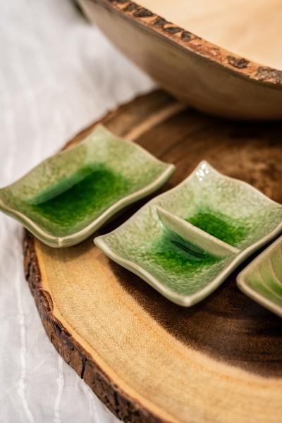 Schüssel 'Twin', grün, L 7 cm, B 9 cm