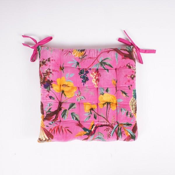"Kissen ""Bird"", pink, L 40 cm, B 40 cm"