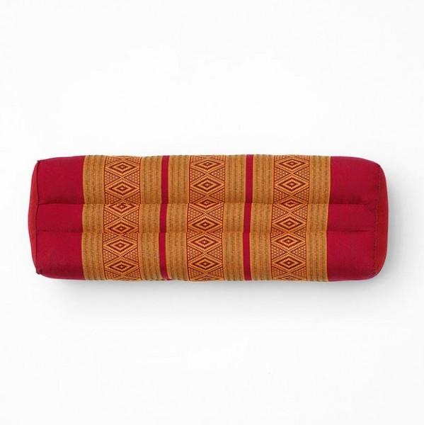 Kissen mit Kapokfüllung, Triopack, rot/gelb, L 14 cm, B 52 cm, H 19 cm
