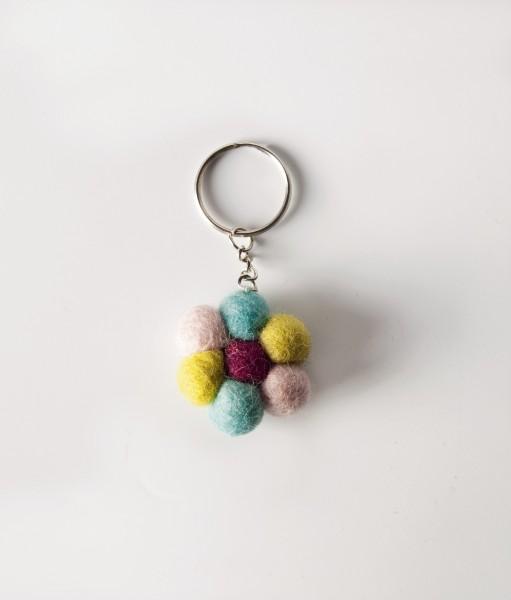 Schlüsselanhänger Sonne, multicolor