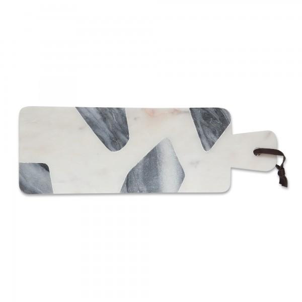 Schneidebrett 'Raasta', weiß, schwarz, T 15 cm, B 46 cm, H 1,1 cm