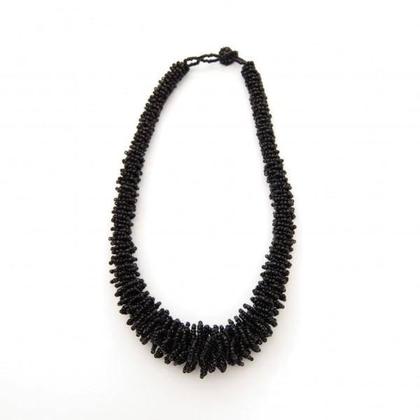 """Halskette """"Perlen"""", schwarz"""