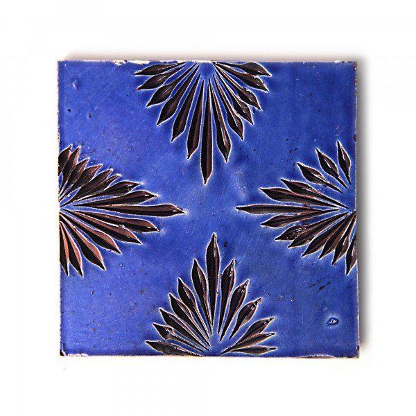 """Fliese """"quatrelle royale"""", blau, L 10 cm, B 10 cm, H 1 cm"""