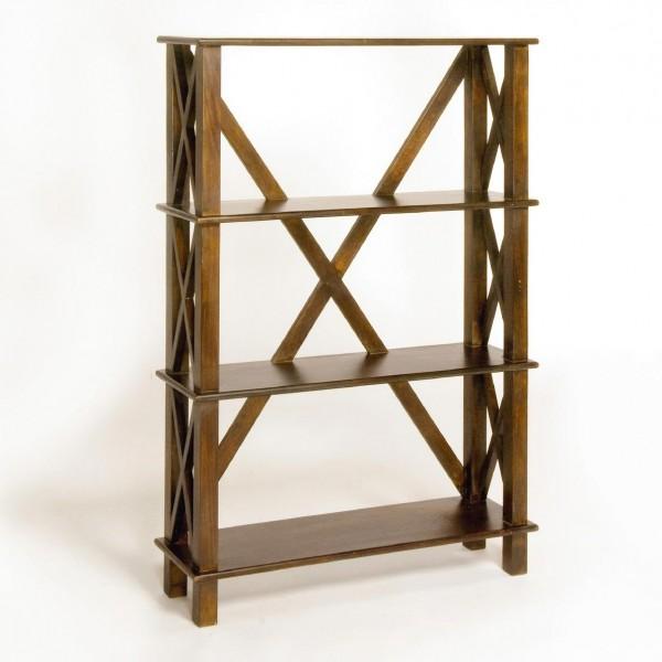 Bücherregal, hellbraun, T 25 cm, B 80 cm, H 120 cm