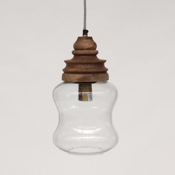 Lampe 'Bubble', braun, Ø 21 cm, H 38 cm