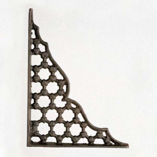 Regalwinkel, antik-braun, L 19,5 cm, B 5 cm, H 24,5 cm