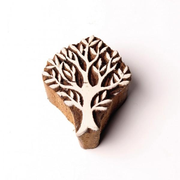 Holzstempel, handgeschnitzt, L 5 cm, B 5 cm