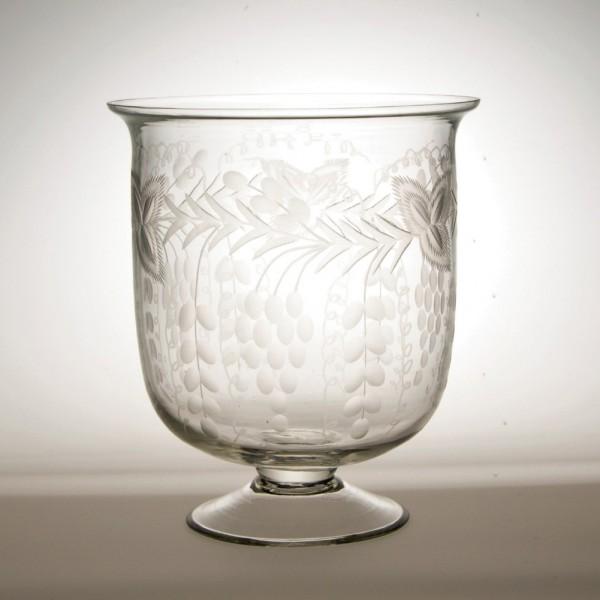 """Pokal """"Floral"""", klar, H 18 cm, Ø 16 cm"""