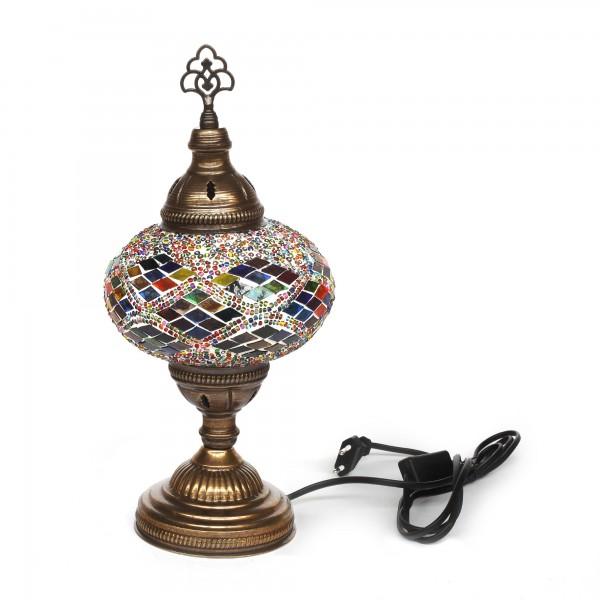 Mosaiklampe 'Kilim', multicolor, T 17 cm, B 17 cm, H 36 cm