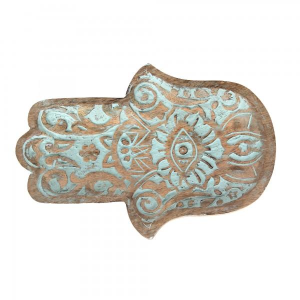Teller Ablage 'Fatima', natur, T 23 cm, B 30 cm, H 4 cm