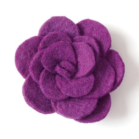 "Brosche ""Rose"", lila, Ø 7,5 cm"
