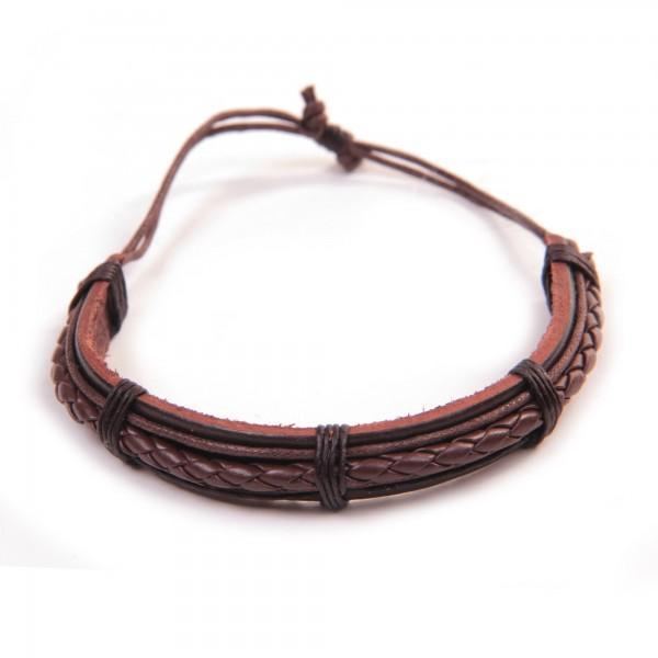 "Armband ""Horatio"", aus Leder, braun"