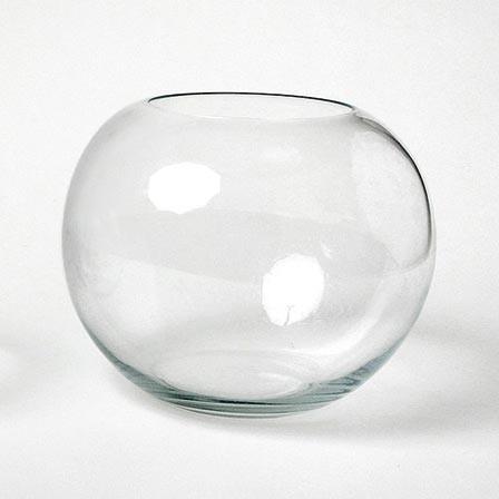 Kugelvase, transparent, H 12 cm, Ø 14 cm
