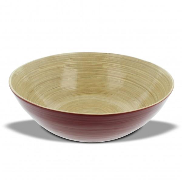 Bambusschale, rot, H 10 cm, Ø 30 cm