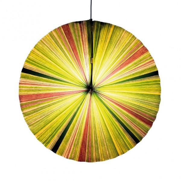 Papierlampion, grün/gelb, Ø 55 cm