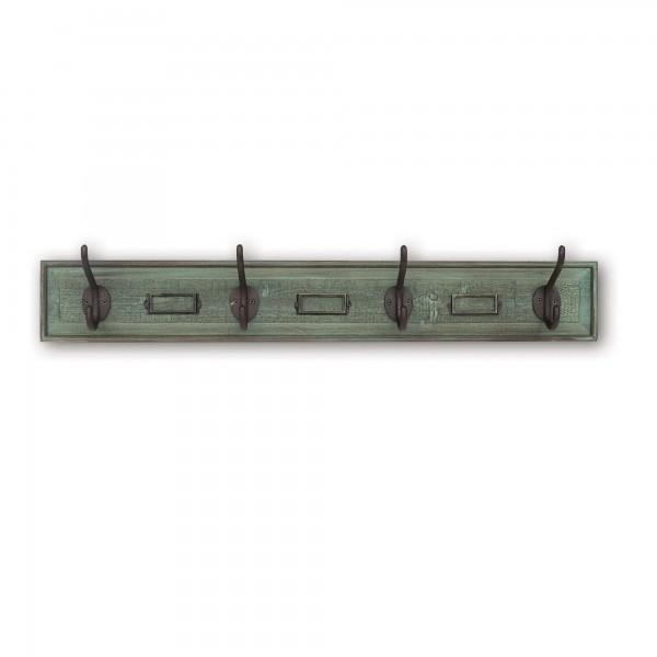 4er Hakenleiste, H 9 cm, B 80 cm, T 12 cm