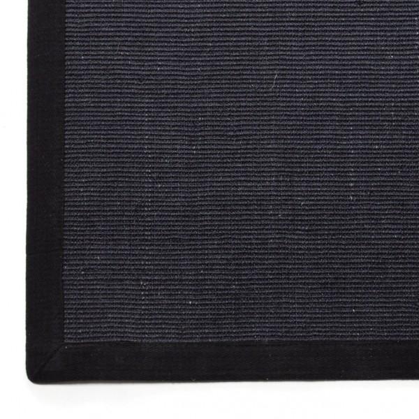 Sisalteppich, schwarz, L 180 cm, B 120 cm