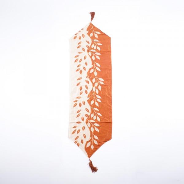"""Tischläufer """"Autumn"""", weiß/gold, L 150 cm, B 45 cm"""