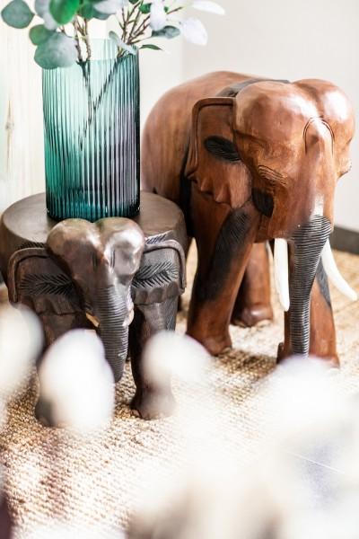 Elefant, natur, T 45 cm, B 28 cm, H 55 cm