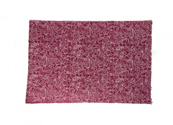 """Geschenkpapier """"Blumen bordeaux"""", handgeschöpft, L 51 cm, B 76 cm"""