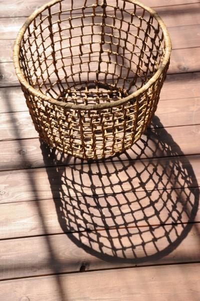 Korb aus Wasserhyazinthe, natur, Größe S, Ø 35 cm, H 32 cm