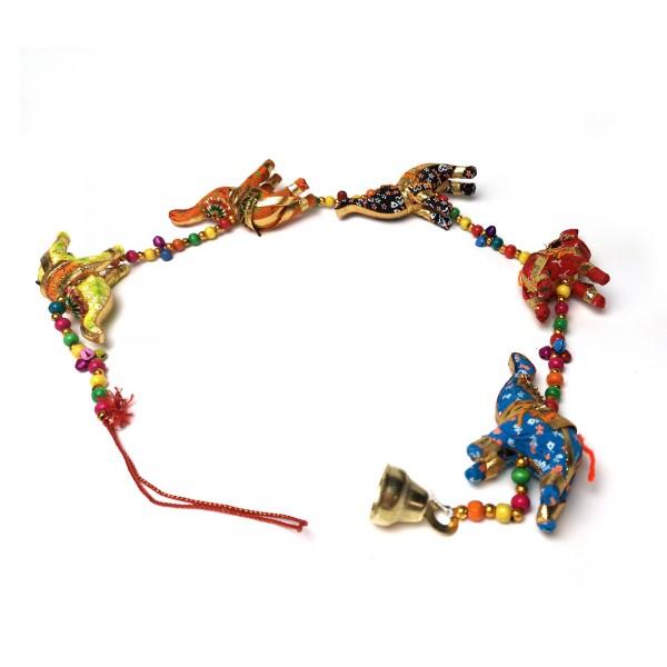 5er Girlande 'Elefant' hängend, multicolor, B 85 cm