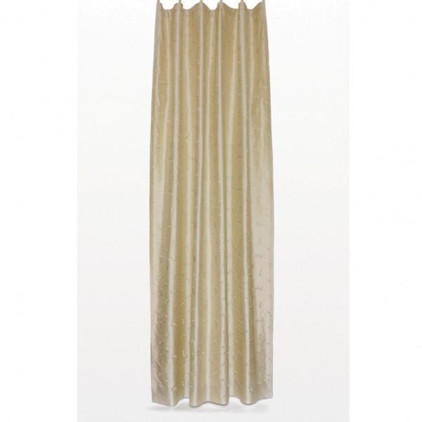 Seidenvorhang mit Schlaufe, beige, L 240 cm, B 130 cm