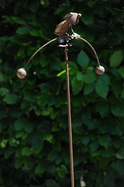 """Wippe """"Frosch"""", rostbraun, B 23 cm, H 110 cm"""