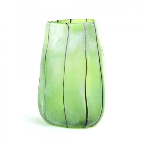 Glasvase 'Delia', grün, Ø 22 cm, H 31 cm