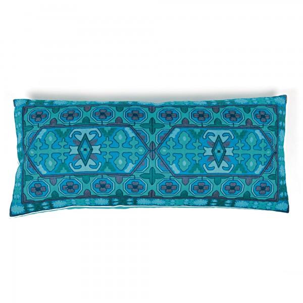 Langkissen 'Epsom', blau, T 35 cm, B 80 cm