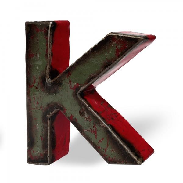 Metallbuchstabe 'K', multicolor, T 16 cm, B 20 cm, H 4 cm