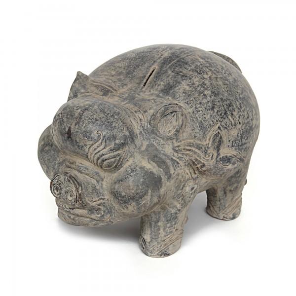 Sparschwein aus Terrakotta, T 51cm, 39 cm , H 35 cm B