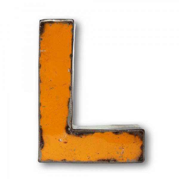 Metallbuchstabe 'L', multicolor, T 14 cm, B 20 cm, H 4 cm