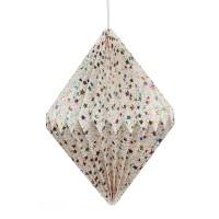Papierlampe 'Sterne', multicolor, Ø 33 cm, H 42 cm