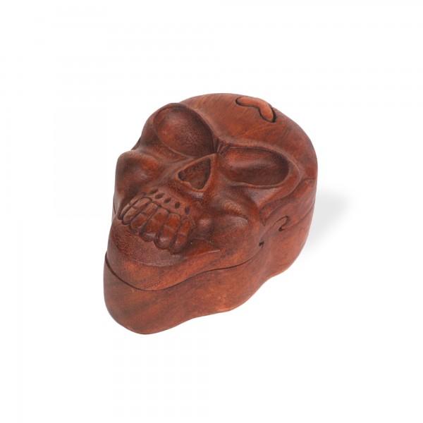 Secret Box 'Skull' S, natur, T 8 cm, B 12 cm, H 7 cm