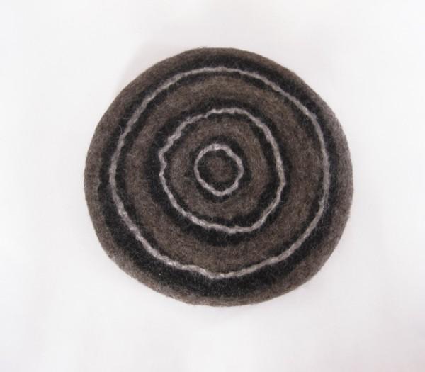 Filz-Untersetzer, braun, Ø 24 cm, H 3 cm