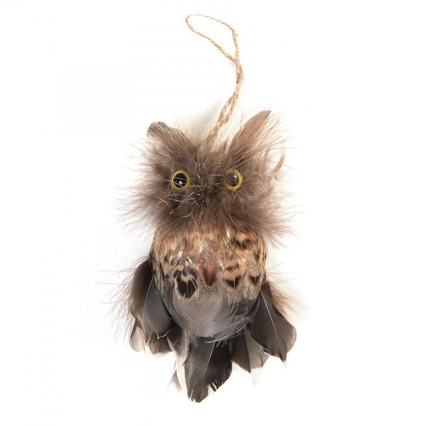 Uhu, aus echten Federn, B 8 cm, H 14 cm