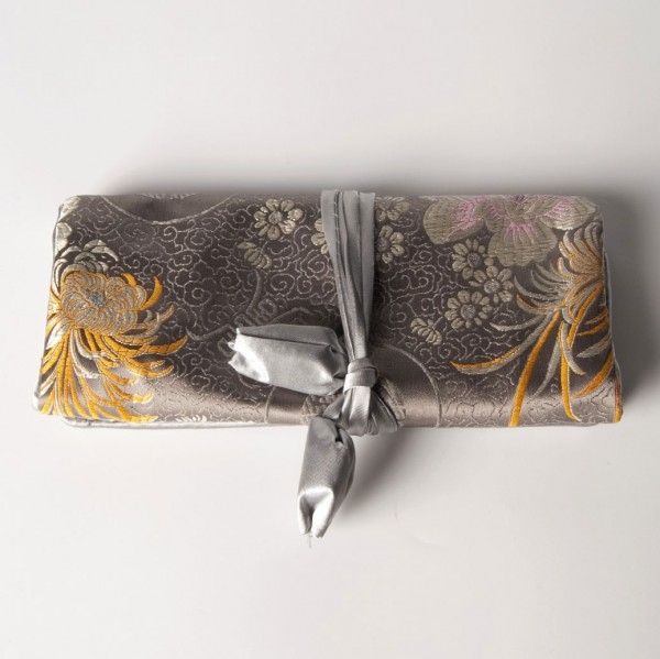 Schmucktäschen faltbar, grau, B 19 cm, H 9 cm